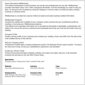 wikibusiness on linkedin