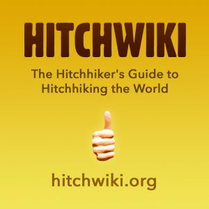 Hitchwiki sticker